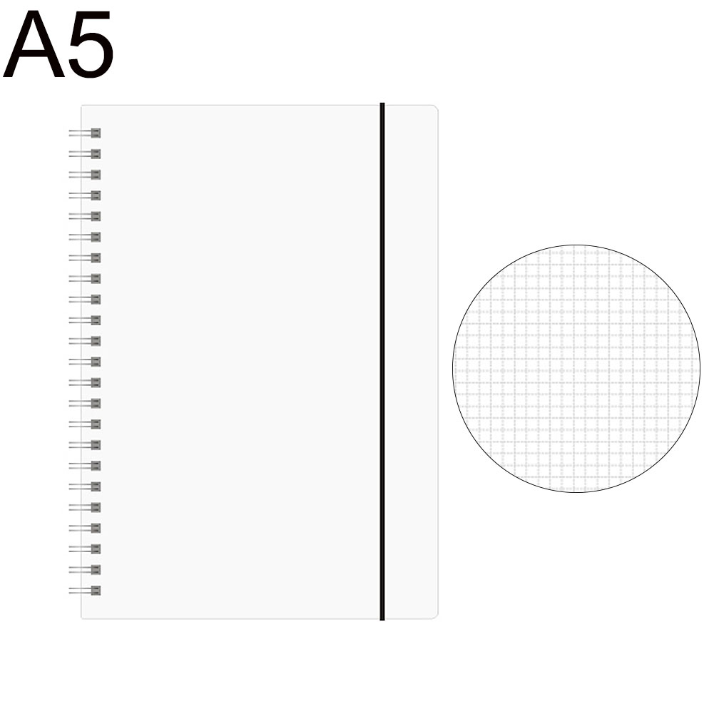 A5//A6 Spiral Book Coil To Do Notebook Blank Grid Line Paper Diary Stationery Tre